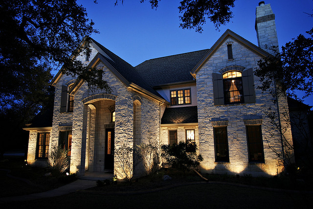Landscape lights tips and tricks for a successful nightscaping landscape lighting ona large home aloadofball Choice Image
